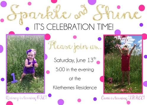 Sparkle & Shine - Birthday Invite