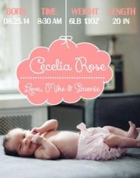 Cloud - Birth Announcement