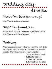Dot - Wedding Invite (back)