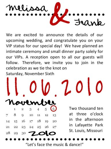 Dot - Wedding Invite (front)