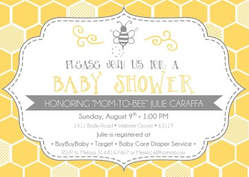 Mom to Bee - Shower Invite