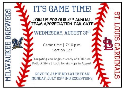 Team Appreciate Event - Baseball Game
