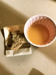 Chocolate Chip Cookie and Mimosa for Breakfast