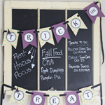 Halloween Trick or Treat Banner Printables