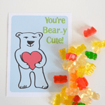 You're Beary Cute Valentine Printable