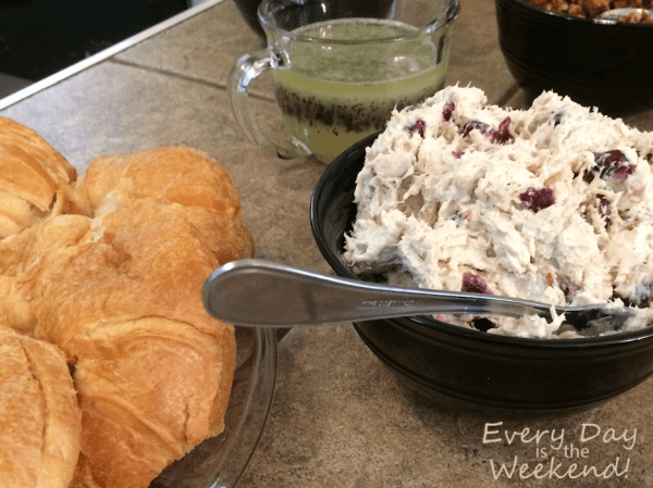 chicken salad with cranberries and pecans l Every Day is the Weekend!