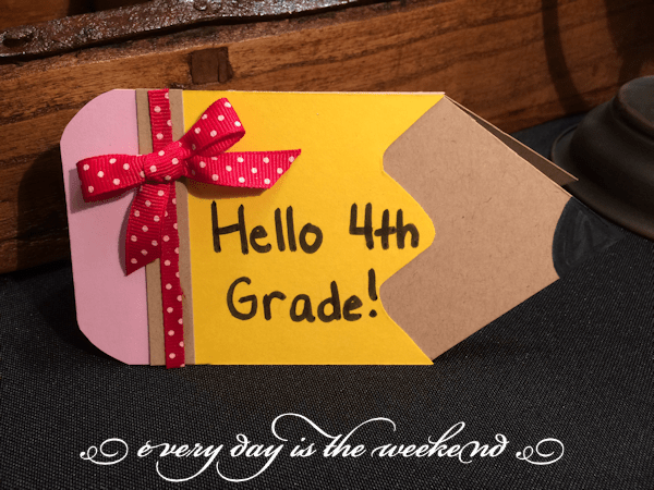 Back to School handcrafted card l Every Day is the Weekend!