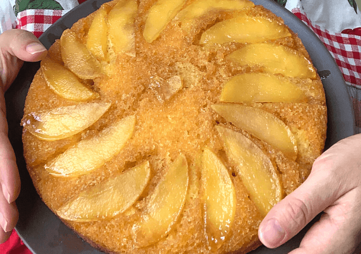 Apple Upside-Down Cake for Rosh Hashanah