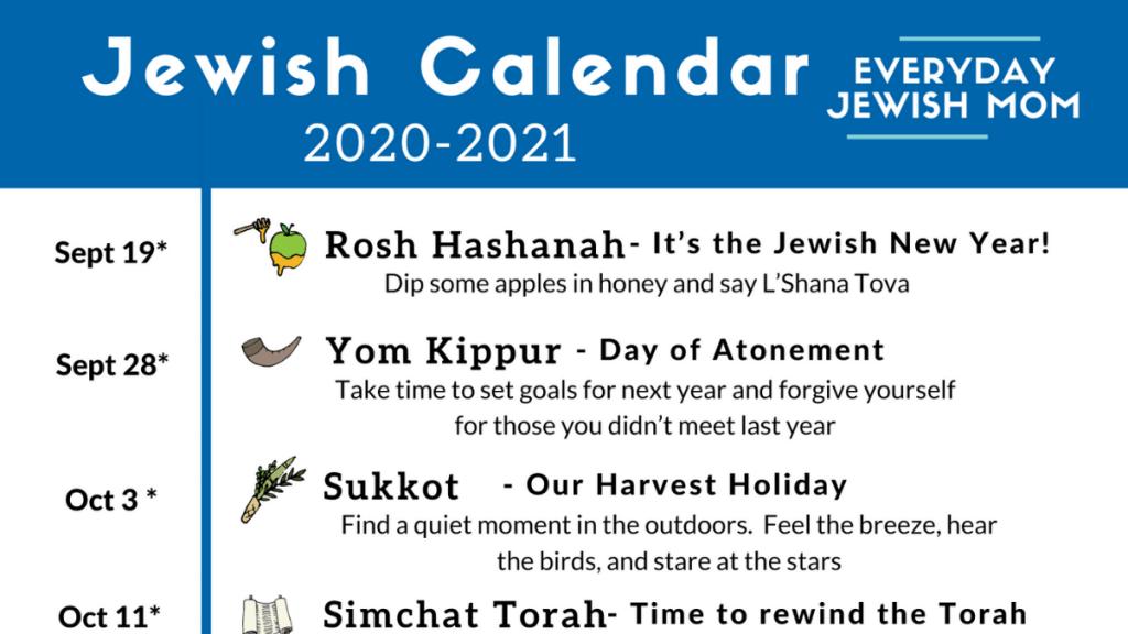 Jewish Calendar 2022 Chabad.Jewish Calendar 2020 2021 Free Download Everyday Jewish Mom