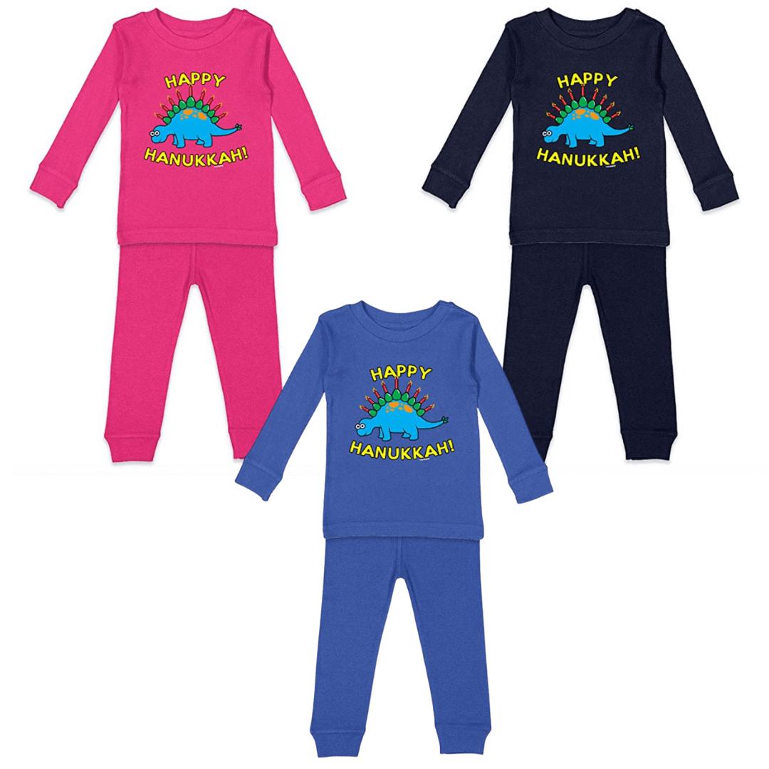 happy hanukkah dinosaur pajamas