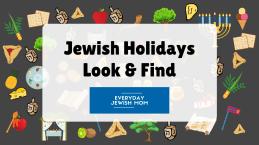 Jewish Holidays Look & Find