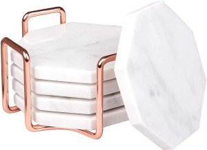 rose gold coasters for office decor