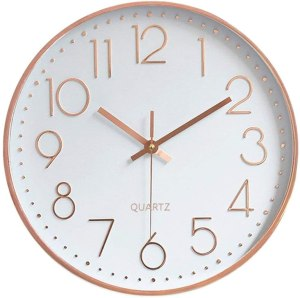 rose gold clock for office