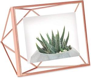 rose gold picture frame for desk