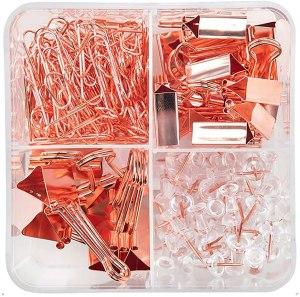 rose gold desk accessories