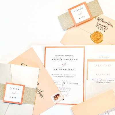 How to DIY Wedding Pocket Invitations