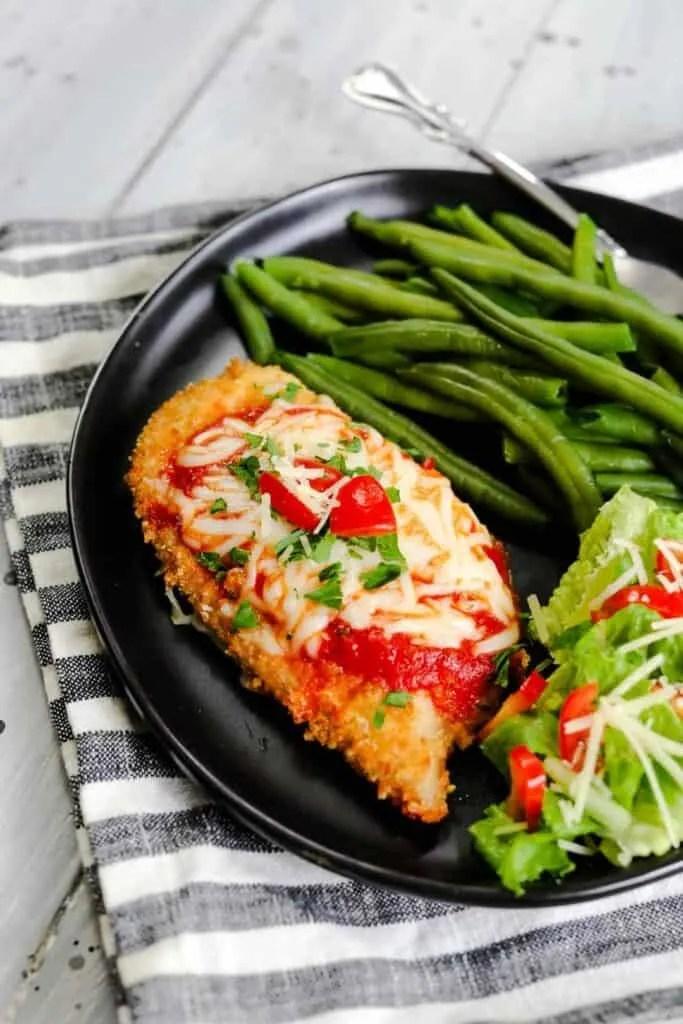 Air Fryer Crusted Chicken Parmesan