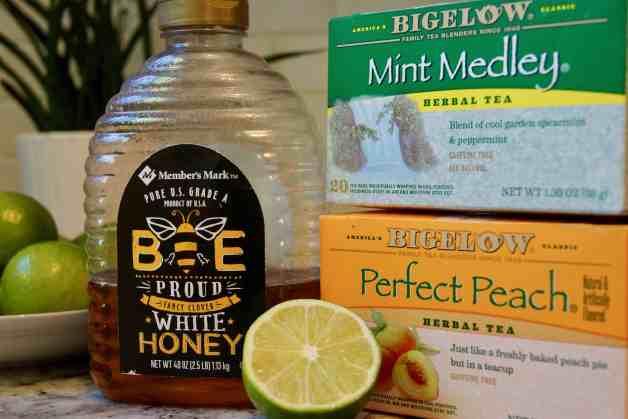Ingredients for homemade medicine ball tea #medicineballtea #herbalteaforcolds