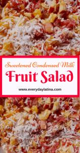 sweetened condensed milk fruit salad pin #fruitsalad