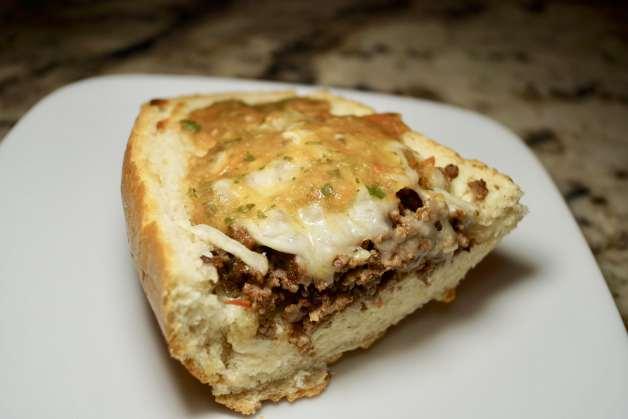 open-faced ground beef tortas #tortas