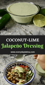 Pin for Coconut Lime Jalapeño Dressing #coconutlimejalapeñodressing