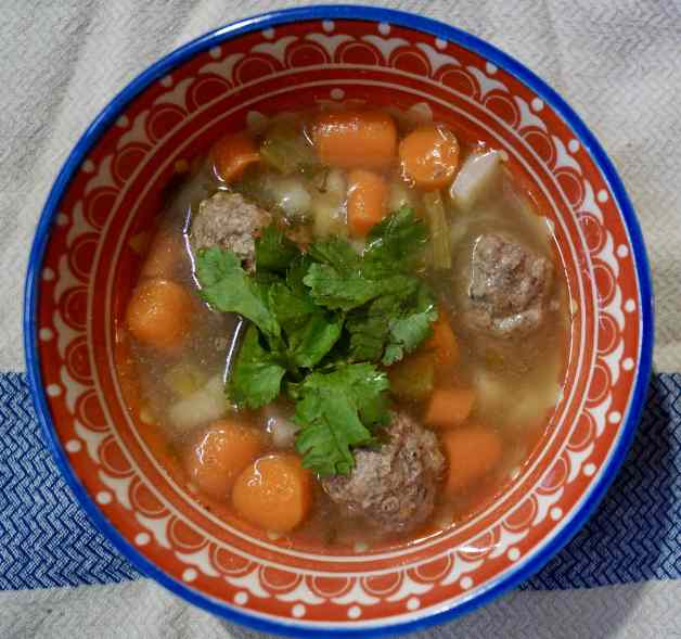 Mexican Meatball Soup #mexicanmeatballsoup