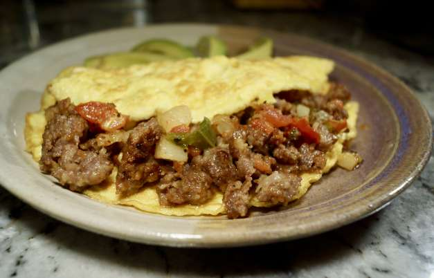 Spicy Ground Pork Omelet