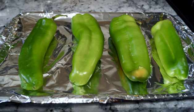 Chiles ready to roast #roasted green chiles