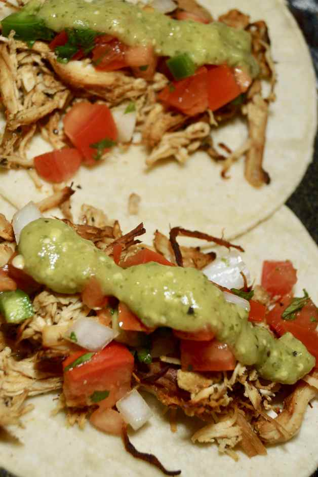 Whole30 slow cooker crispy chicken tacos #whole30slowcookercrispychickentacos #chickentacos