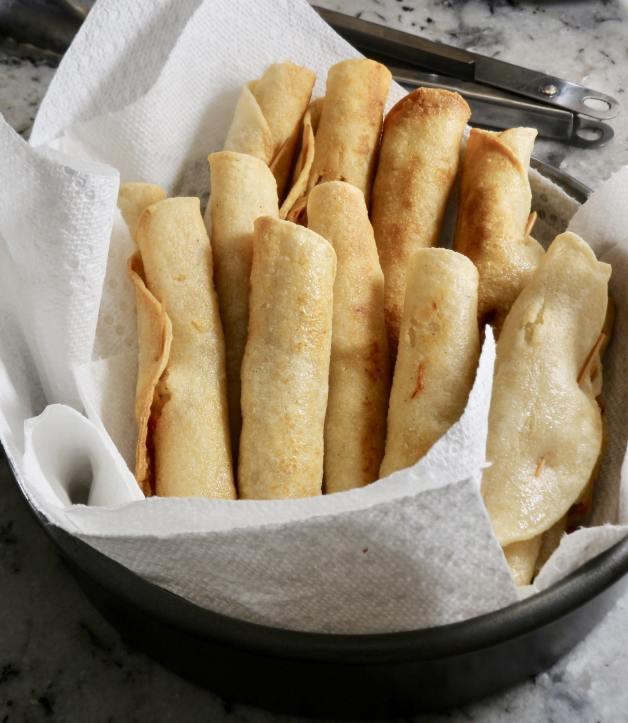 Fried flautas #chickenflautas