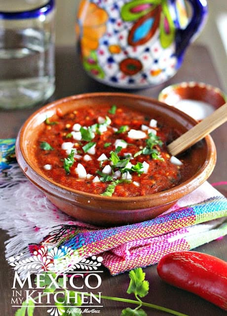 Roasted Red Jalapeño Salsa #mexicansalsa #salsaforparrillada