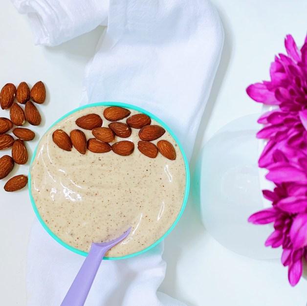 No Churn Banana-Almond Butter Ice Cream #almondbuttericecream #dairyfreeicecream #bananaalmondbutter