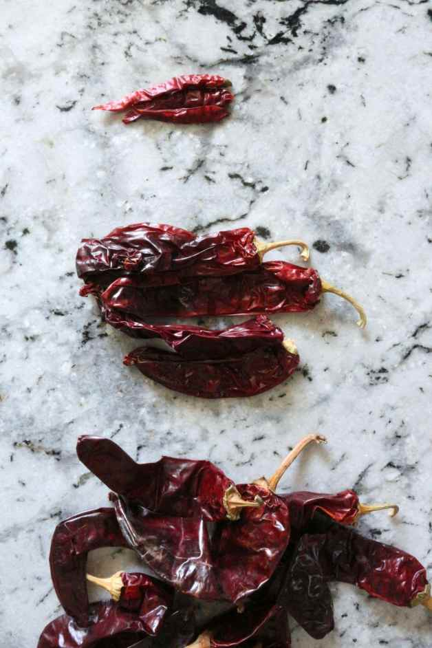 Dried chiles for chile colorado #chilecolorado #redchile