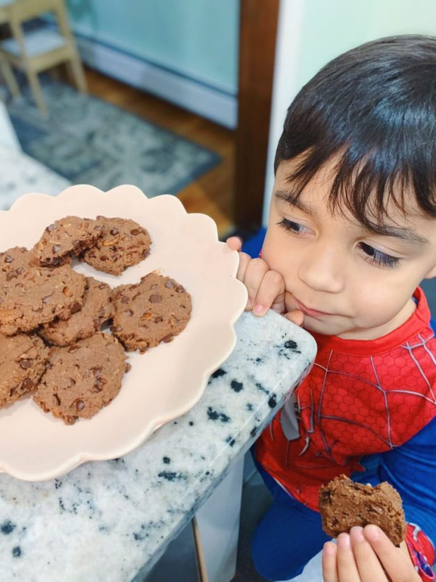 My little helper enjoying cookies #cookies #bakingcookies