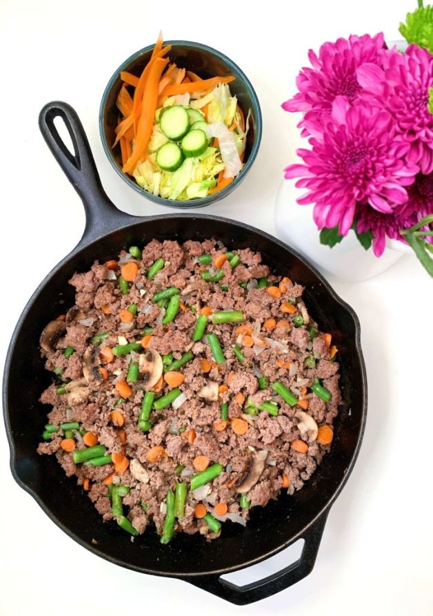 Mixed Vegetables and Ground Beef Skillet #groundbeef #whole30recipes