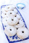 Light and Fluffy Gluten-Free Powdered Donuts #glutenfreedonuts #powderedglutenfreedonuts #bakeddonuts