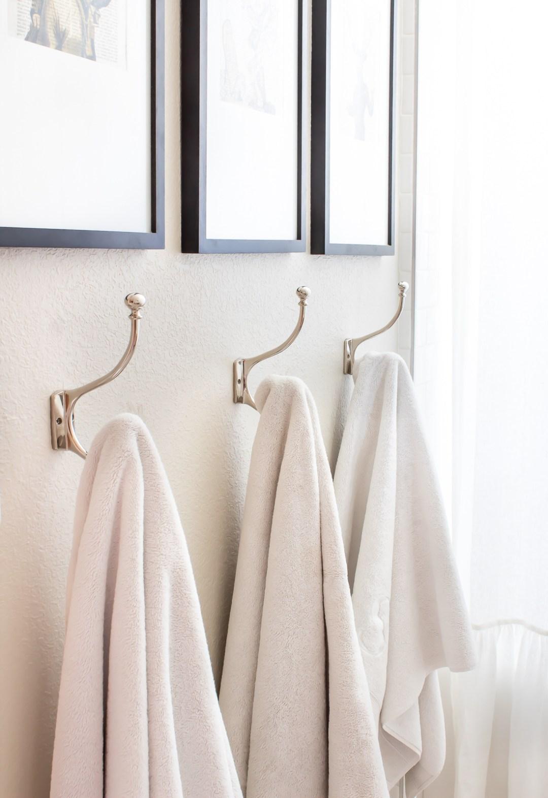 hooks for towels instead of towel rack