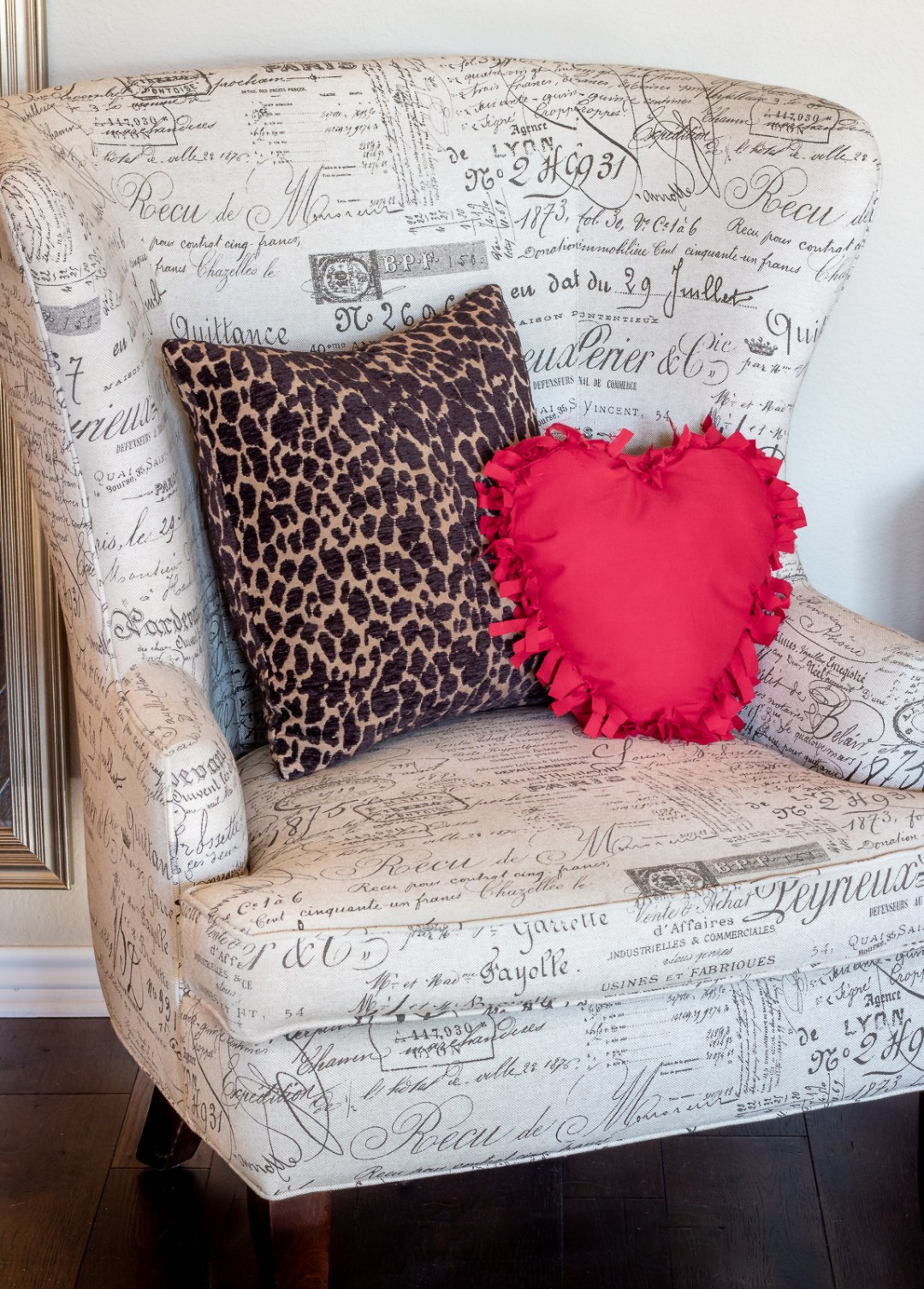 Budget DIY Valentine's Day decor.