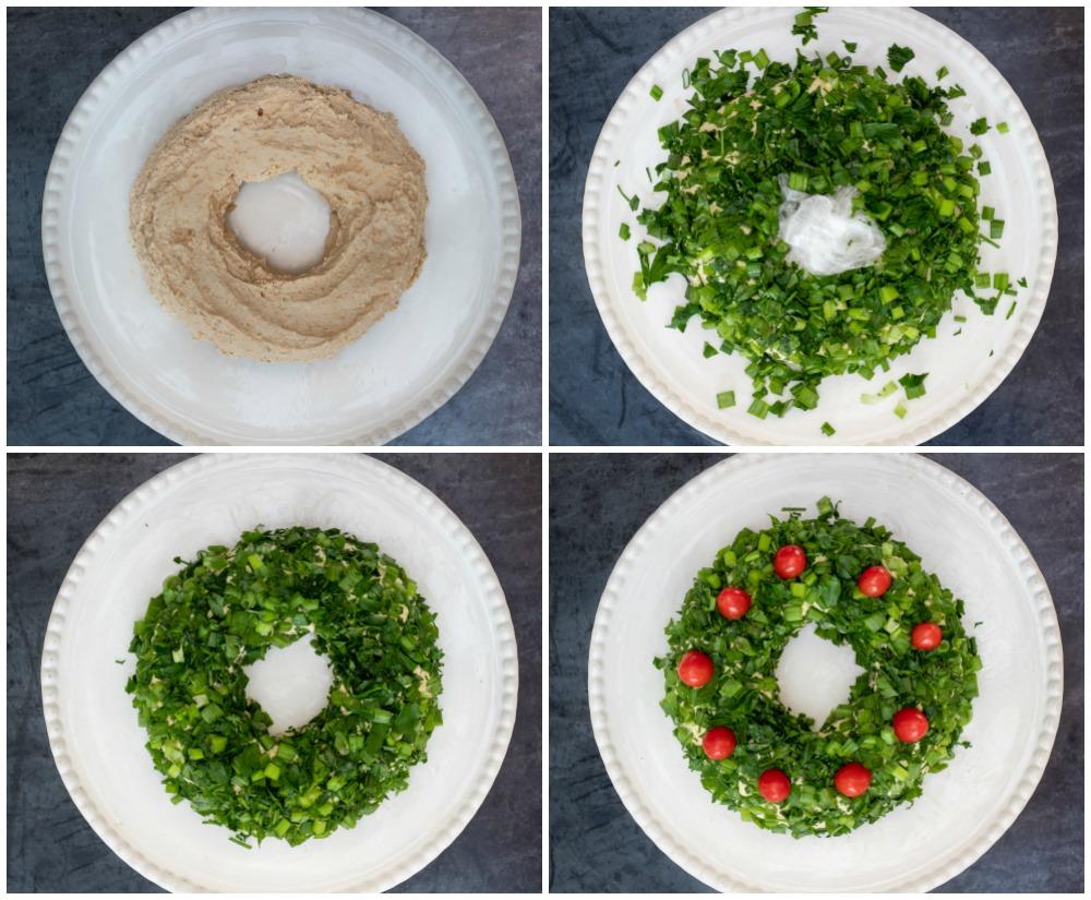 How to make a cheese ball wreath