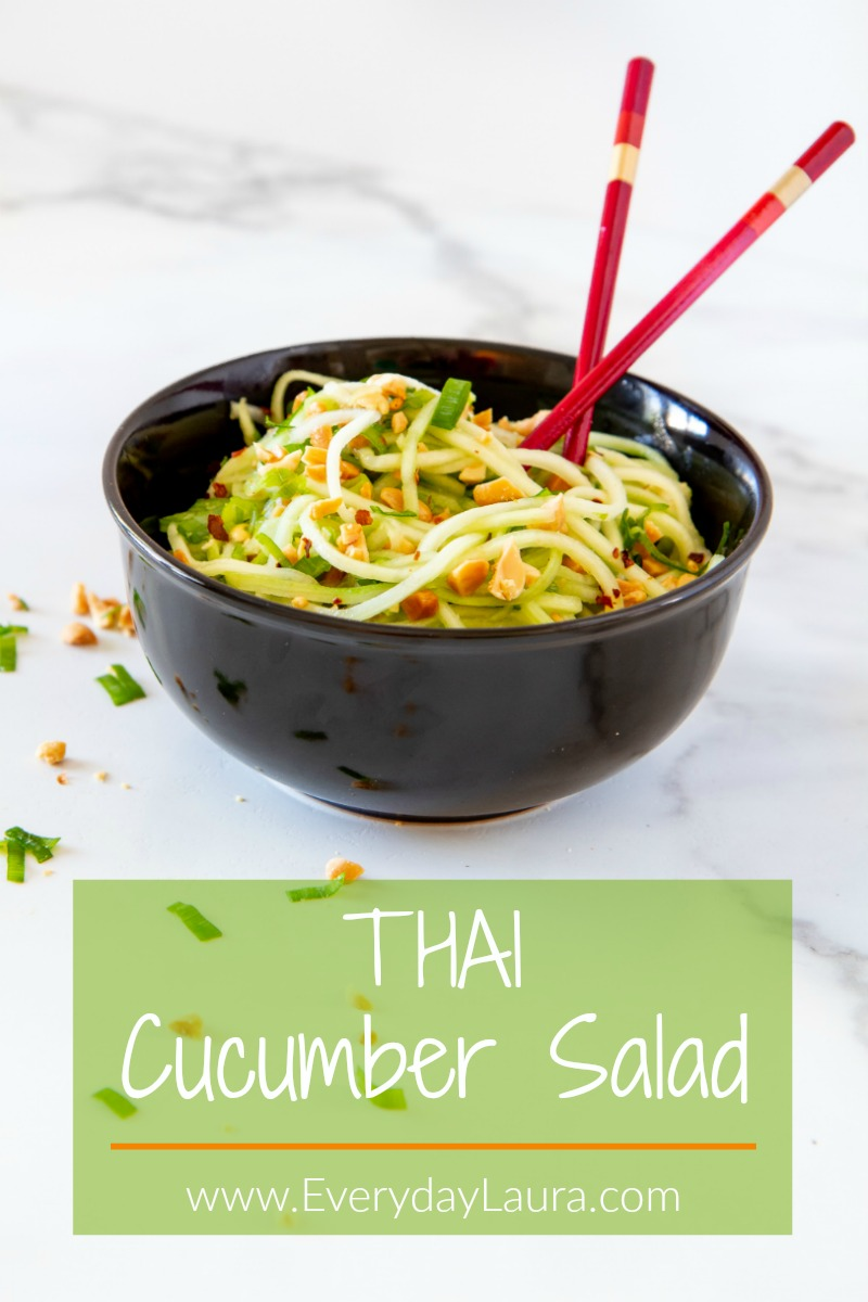 This Thai cucumber salad makes a delicious side or main dish.