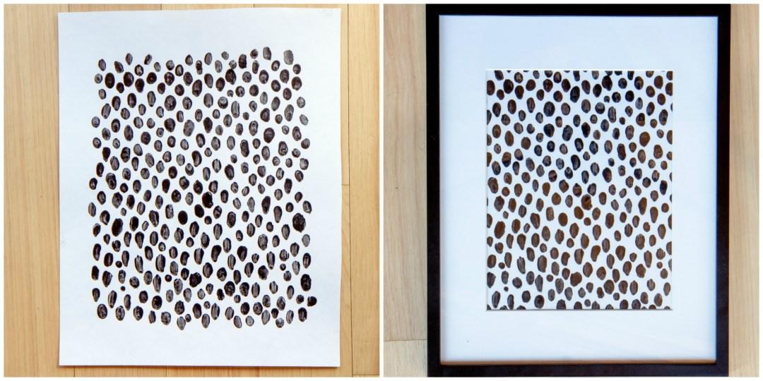Easy to make DIY fingerprint wall art
