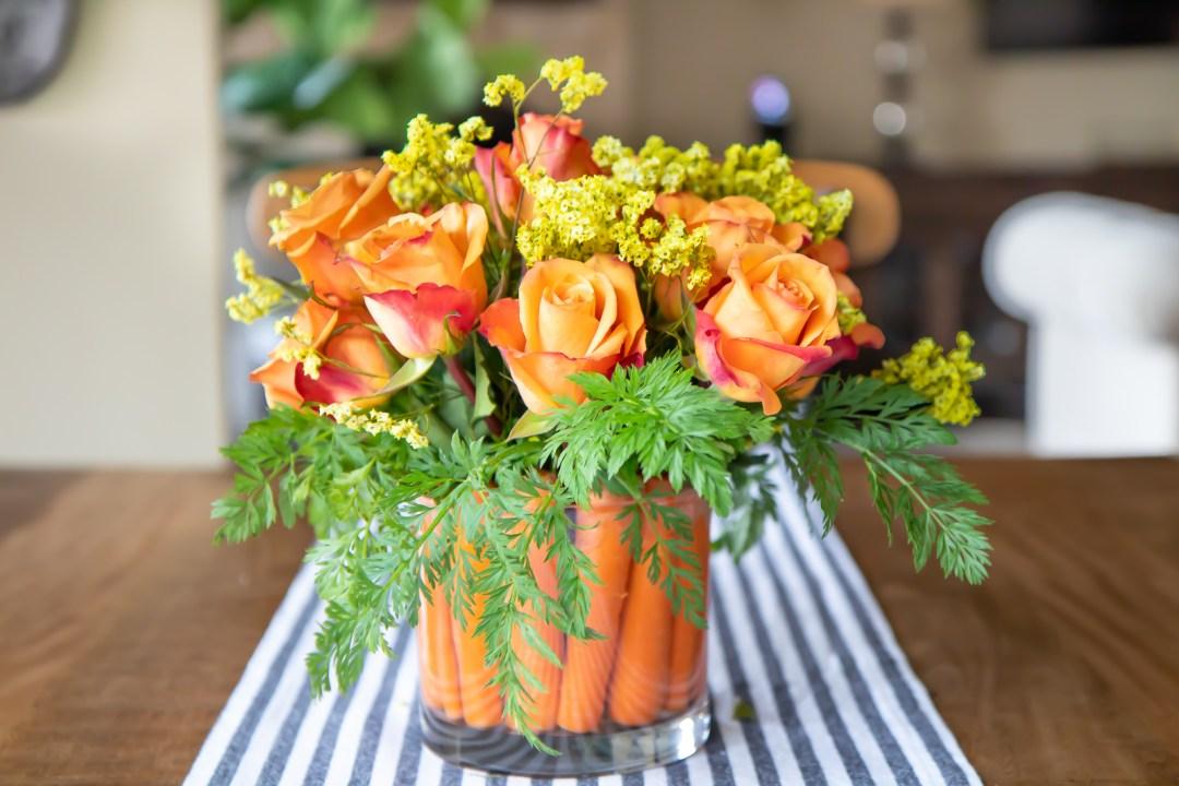 How to create a cute Easter carrot flower arrangement.