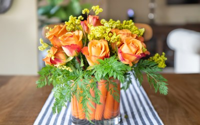 HOW TO CREATE A CUTE EASTER CARROT FLOWER ARRANGEMENT
