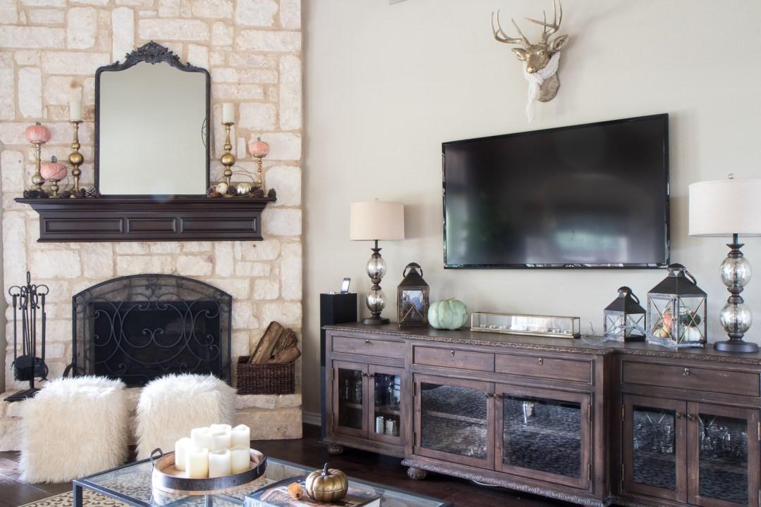 stone fire place home decor ideas
