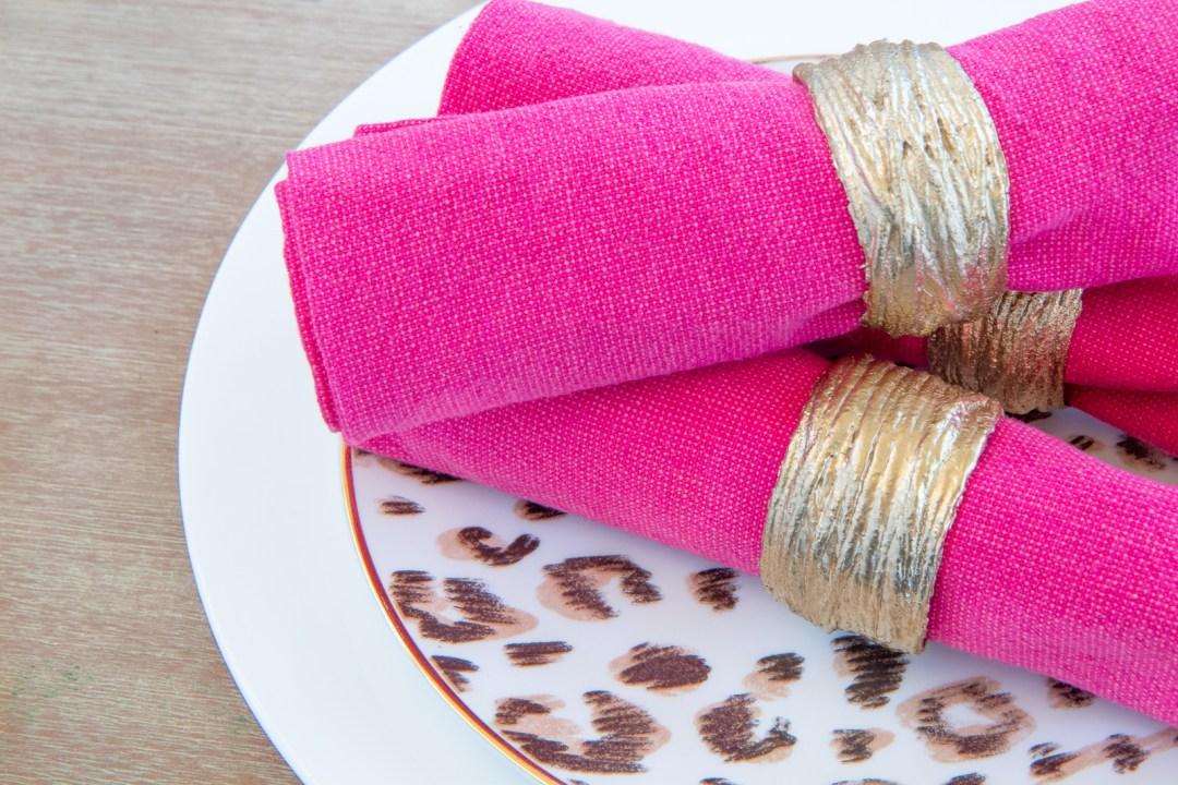 DIY budget napkin rings