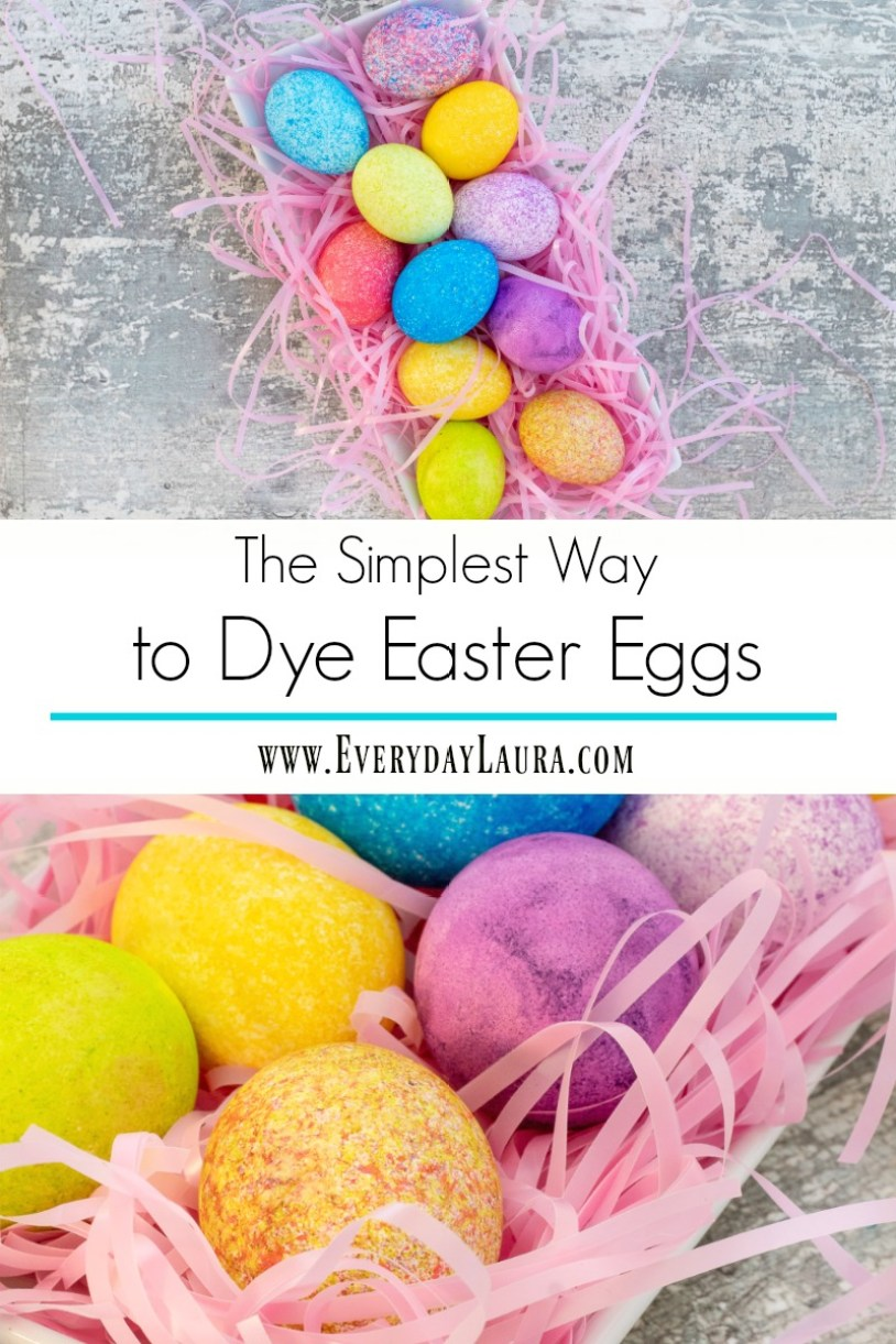 The simplest way to dye gorgeous Easter eggs
