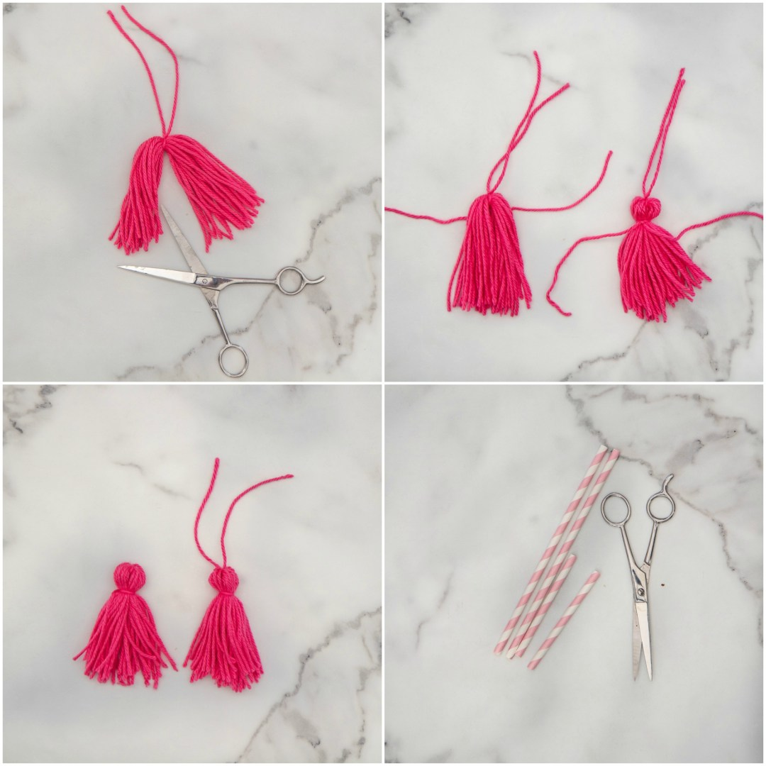 How to make yarn tassel garland.