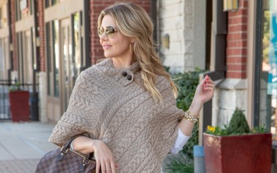 GET COZY WITH A PONCHO SWEATER