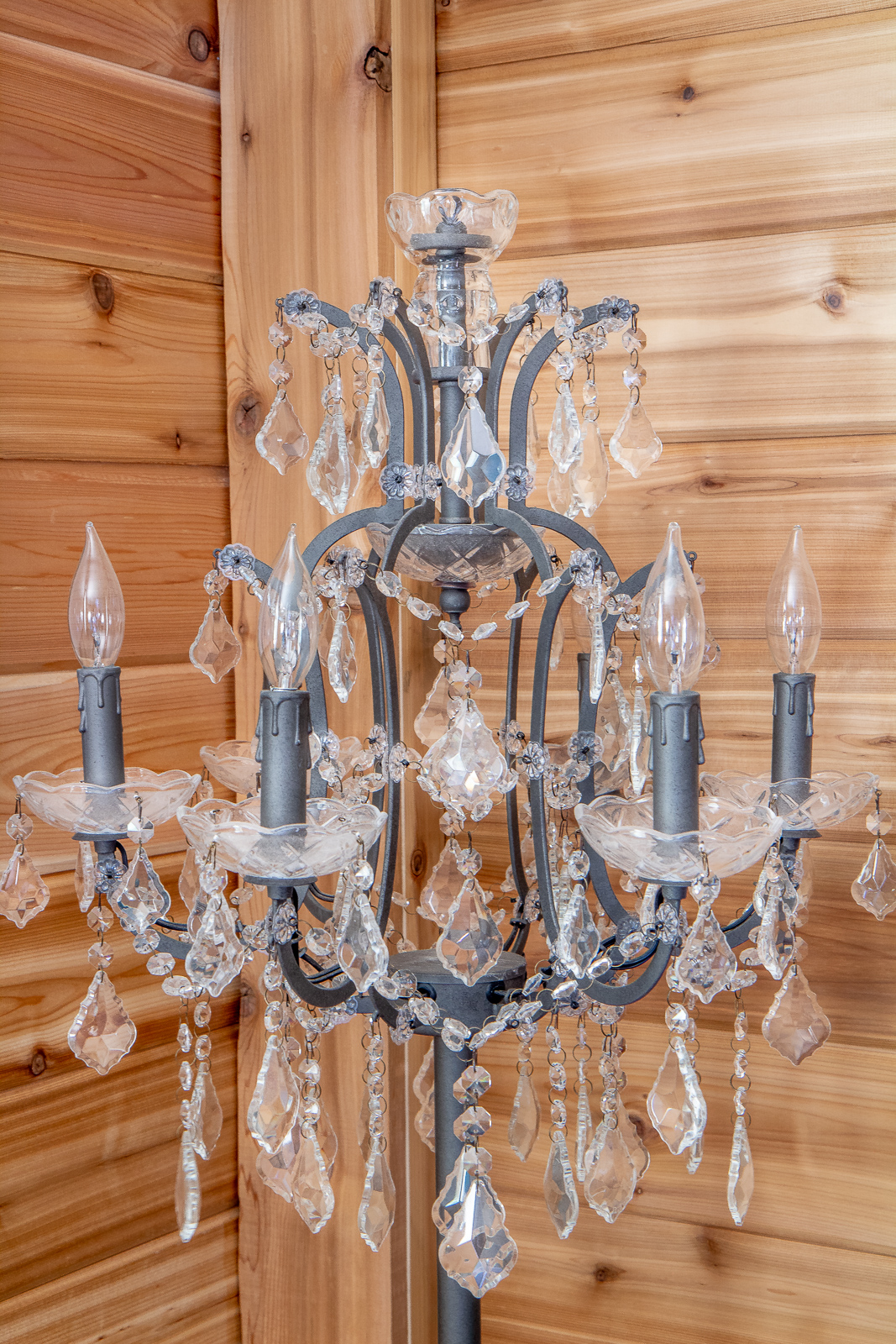 Restoration Hardware knock off chandelier lamp
