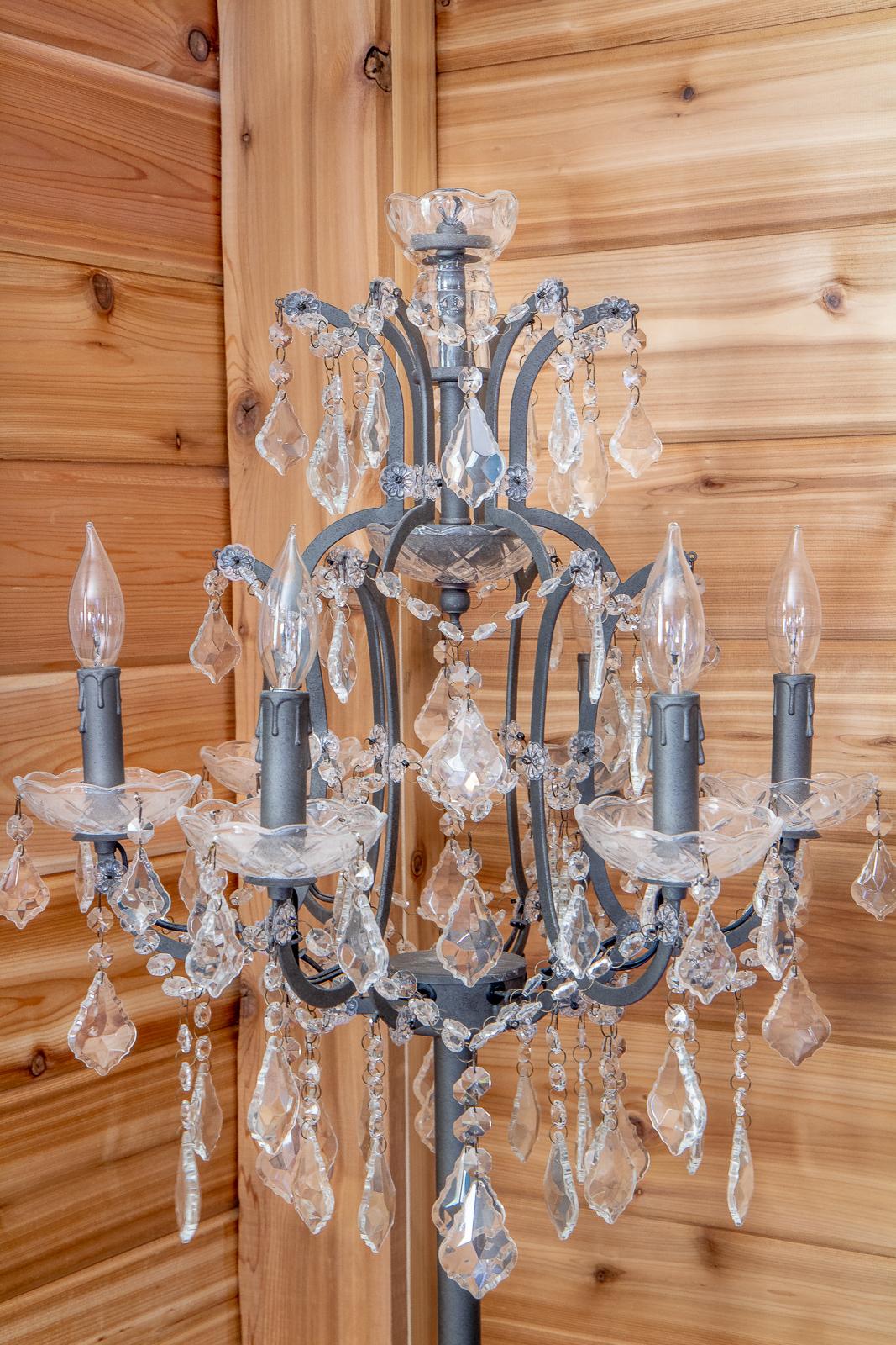 Restoration Hardware knock off chandelier lamp